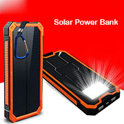 Solar Power Bank 20000mAh Outdoor with Led Light