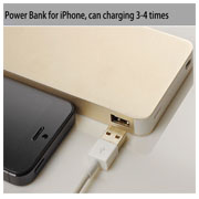 Titanium  Portable Battery Charger Power Bank 8000mAh