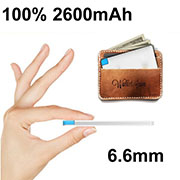 Slim 2600mAh Mini external Polymer Battery Card Power Bank