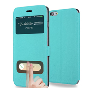 View Window Flip Leather Case for Iphone 6/6s Phone Cover