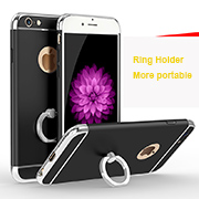 For iphone6/6s electroplating all inclusive hard protective case with ring holder