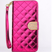 Diamond Flip Leather Case with Wallet Card slot
