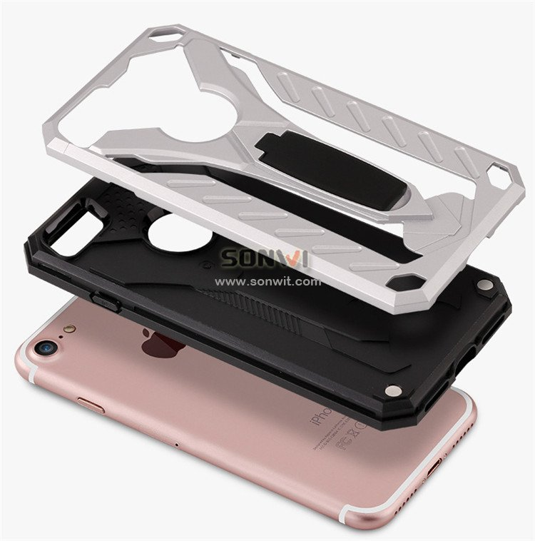 Shock proof PC&Silicone Phone Case for iphone 7/7 plus